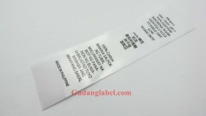 Label satin printing
