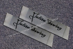 woven damask label